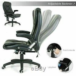 Electric Massage Executive Office Chair PU Leather Recliner With Remote Control