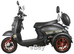 Electric Mobility Scooter 3 Wheeled 60V 100AH 800W NEW Unique FREE Delivery