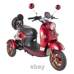 Electric Mobility Scooter 3 Wheeled Red 60V100AH 600W GREEN POWER FREE Insurance