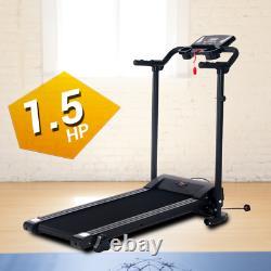 Electric Motorised Treadmill Heavy Duty 1.5 HP Motorised Folding Running Fitness