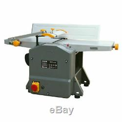 Electric Planer Thicknesser 204mm Wood Bench Top Heavy Duty Woodwork Jointer DIY