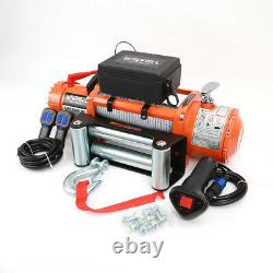 Electric Recovery Winch 12v 13500lb Heavy Duty Steel Cable, 4x4 Car WINFULL