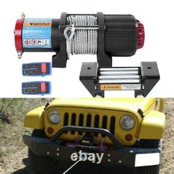 Electric Recovery Winch 12v 4500lb Heavy Duty Steel Cable, Car And Boat
