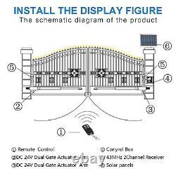Electric Swing Gate Opener Heavy Duty Complete Kit 2 Motors By Oxygen Automation