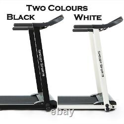 Electric Treadmill Fitness Running Foldable Heavy Duty Exercise Machine 1.25 HP