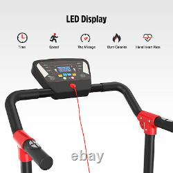 Electric Treadmill Heavy Duty 1.5HP Motorised Folding Running Machine Cardio UK