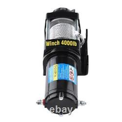 Electric Winch 4000lb 12v Steel Cable Heavy Duty Automatic Load-Boat, ATV