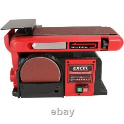 Excel 370W 4 Electric Bench Belt & Disc Sander Heavy Duty