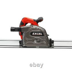Excel Heavy Duty Plunge Saw 165mm 240V with Aluminium 1.5m Guide Rail