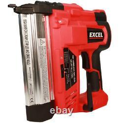 Excel Nail Gun & Staple Gun Cordless Electric Heavy Duty Stapler Nailer 18V