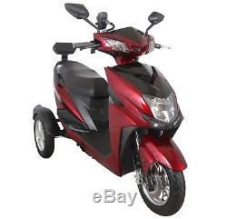 Exclusive 3 Wheeled Electric Mobility Scooter 60V100AH 500W Red Free Delivery