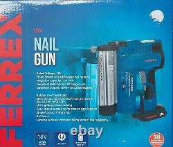 FERREX 2 in 1 Nail Gun & Staple Gun Cordless Electric Heavy Duty. 6000 staples