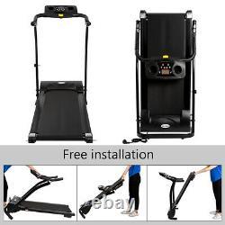Folding Electric Bluetooth Treadmill Incline Running Fitness Machine Safety Key