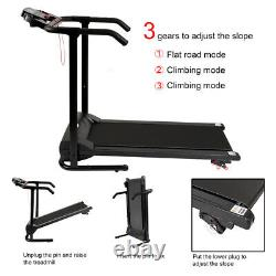 Folding Electric Treadmill Safety Running Machine Fitness Home Incline Adjust UK