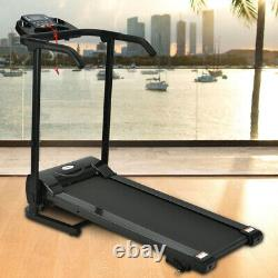 Folding Treadmill Home Running Fitness Machine with Safety Stopper Incline Adjust