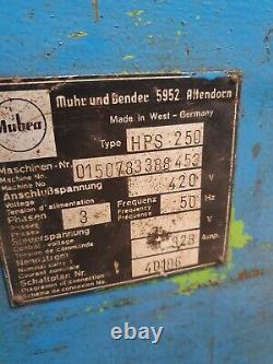 German Heavy Duty Mubea HPS250 Ironworker Machinery 3 Phase Early Geka Era