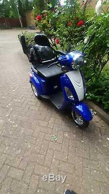 Green Power ZT500 3-Wheeled 500W Electric Mobility Scooter Blue