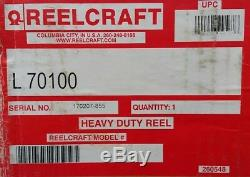 HEAVY DUTY Reelcraft L-70100 Spring Retractable Bare Cord Reel Up To 100' 12-3