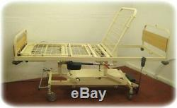 HOSPITAL BED. ELECTRIC 3-WAY PROFILING ADJUSTABLE HEIGHT with SIDE RAILS
