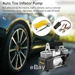 Heavy Duty 12v Electric Car Tyre Inflator 100psi Air Compressor Pump New