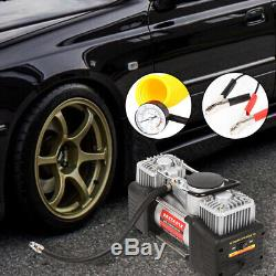 Heavy Duty 12v Electric Car Tyre Inflator 100psi Air Compressor Pump Uk New