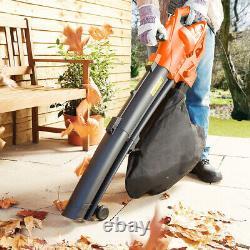 Heavy Duty 3200w Electric Garden Leaf Grass Hedge Blower Hoover Vacuum Vac New