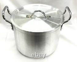Heavy Duty Casserole Aluminium Cooking Pot Pan Lid Catering Ground Base
