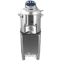 Heavy Duty Commercial Electric Potato Rumbler Peeler Machine Peeling 20Kg