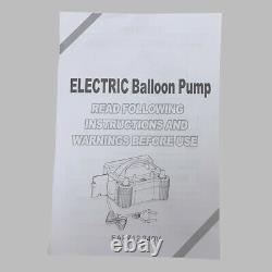 Heavy Duty Electric Balloon Pump High Power 2 Modes 240V Inflate 680W Air Blower