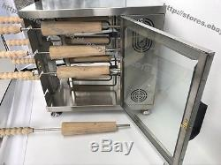 Heavy Duty Electric Hungarian Kurtos Kalacs Chimney Cakes Roll Grill Oven Maker