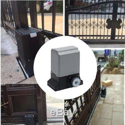 Heavy Duty Electric Sliding Gate Opener Automatic Motor Remote Control 1M Rail