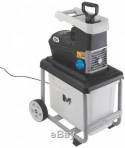 Heavy Duty Garden Shredder Silent Electric Waste Chipper Storage Box Commercial