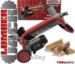 Heavy Duty Hydraulic Wood Log Splitter Cutter 4 Ton Electric 240v Portable Stand