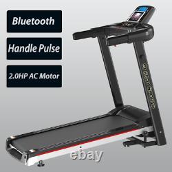 Heavy Duty Treadmill Electric Motorised 2.0hp Folding Running Machine Exercise