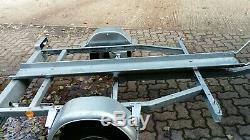 Heavy Duty Trigano Single Motorbike trailer & Spare wheel ramp electrics lights