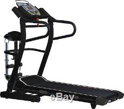 Heavy duty Motorized Electric Treadmill Running Fitness Machine / Belt Massager