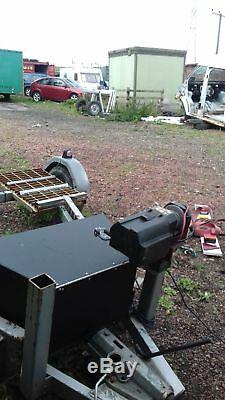Heavy duty car towing dolly. Electric wi ch all straps back number plate board