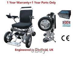 HeavyDuty Front Wheel Drive Folding Portabl Electric Wheelchair + Free service