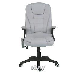 High Back Recliner Electric Massage Chair Fabric Cushion With Remote Control Grey