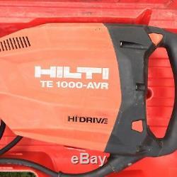 Hilti TE 1000 AVR Hi Drive Heavy Duty Breaker Demolition Hammer 110V 1600W 2310