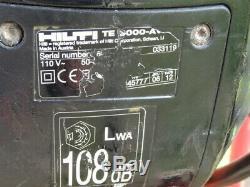 Hilti TE 3000 110v Heavy Duty Concrete Road Electric Breaker c/w Trolley & Bits
