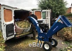 Hyundai 14HP Petrol Wood Chipper Shredder Electric Start 420cc Heavy Duty