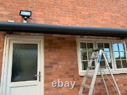 INT500 Full Cassette Electric Motorised Grey Frame Heavy Duty Patio Awnings