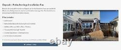 INT500-Full Cassette Heavy Duty Patio Awnings Manual Control Grey Frame UK Stock