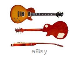 Indio 66 DLX Flamed Maple Top Electric Guitar Honey Burst WithHeavy Duty Gig Bag