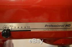 KitchenAid Professional HD KG25H0XER 5 Qt Heavy Duty Stand Mixer Red 475 Watt