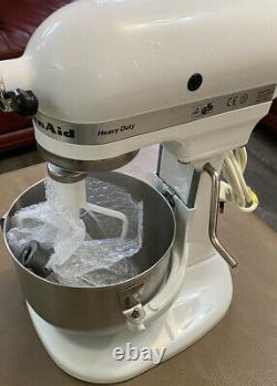 Kitchenaid Heavy Duty 4.8l White Mixer 5KPM5 EXCELLENT CONDITION