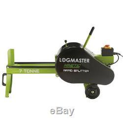 LogMaster LogSplitter Electric Kinetic Wood 7 Ton Auto Return Heavy Duty-GRADE B