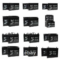 MOBILITY SCOOTER BATTERY LITHIUM AGM/GEL 2 x 12v 12AH 22 33 36 40 50 55 75100AH