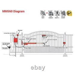 Mighty Mule MM71W 18 Ft. 850 Lb. Heavy-Duty Single Gate Opener Kit MM571W 1